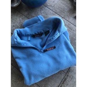 L.L.Bean blue fleece pullover sweatshirt jacket